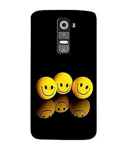 PrintVisa Shadowing Smiles 3D Hard Polycarbonate Designer Back Case Cover for LG G3 Mini