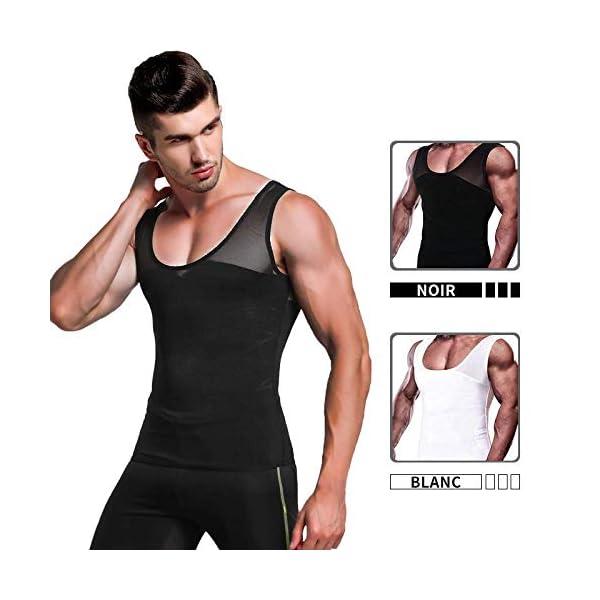 IMAGE D/ébardeur Sport S/échage Rapide T-Shirt Amincissant sans Manches D/ébardeur Homme Gainant sous-V/êtements Masculins pour Fitness Gym Bodybuilding Running