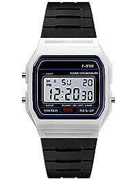 Reloj Electrónico Impermeable de Multifunciones Pulsera de Moda con Luces para Deportes Exteriores para Hombres Fitness