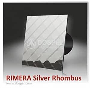 luxus intelligente badezimmer dunstabzugshaube rimera 100 silber rhombus s leise bel ftung. Black Bedroom Furniture Sets. Home Design Ideas