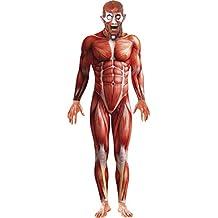 Anatomie Kostüm Ganzkörperanzug rot M 48/50 Second Skin Zweite Haut Stretchanzug Faschingskostüme Karnevalskostüme Männer Herren