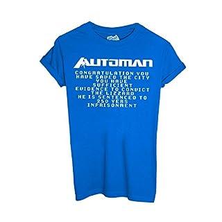 MUSH T-Shirt Automan 80'S Serie TV Games - Film Dress Your Style - Herren-XL-Blau