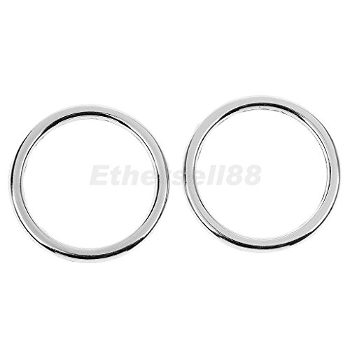 Tradico® 10 Pieces Round Shape Metal Craft 1.18inch Ring Buckle for Belt Strap Silver
