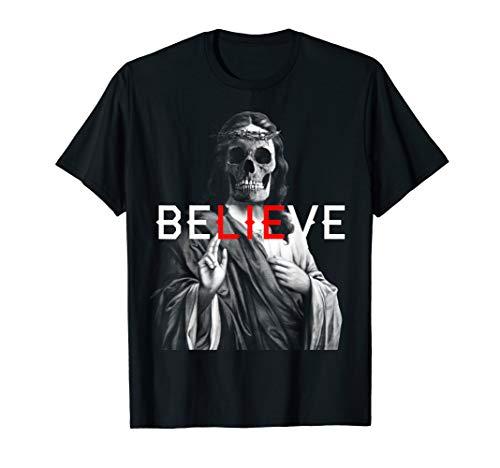 Blackcraft Antichrist Jesus Skull Glaube Satan Atheist T-Shirt