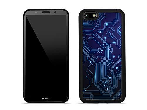 etuo Huawei Honor 7S - Hülle Aluminum Fantastic - integrierte Schaltkreise - Handyhülle Schutzhülle Etui Case Cover Tasche für Handy