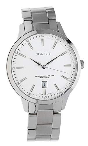 GANT W70182 - Reloj analógico de cuarzo para mujer con correa de acero inoxidable, color plateado