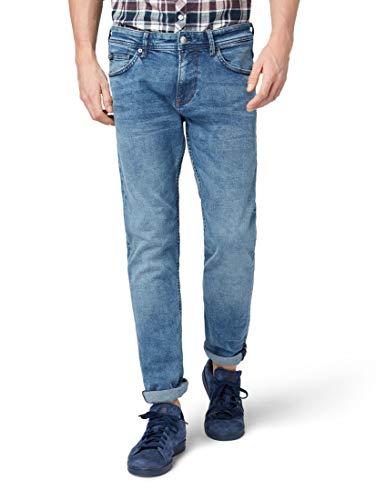 TOM TAILOR Denim Jeanshosen Piers Super Slim Jeans Light Stone wash Denim, 27/36