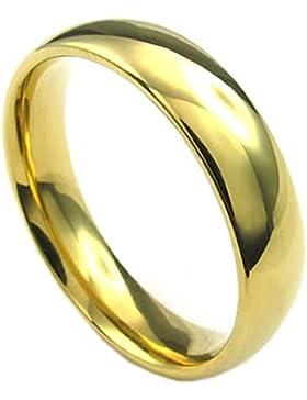 Ring - SODIAL(R)Schmuck Herren-Ring, Damen-Ring, Edelstahl, 5mm, Gold - Gr. 70