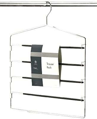 H & L Russel Ltd 4 Bar Trouser Hanger with 4 Non-Slip Easy Access Swing Bars To Hold 4 Pairs Of Trousers, Adult Size - cheap UK light shop.