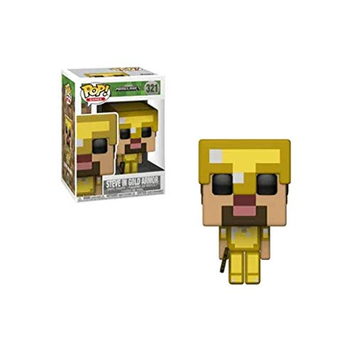 Funko Pop! Games : Minecraft - Steve in Gold Armor - Vinyl Figur, 9cm