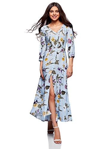 oodji Damen Maxi-Kleid mit Knöpfen - 26,80 €