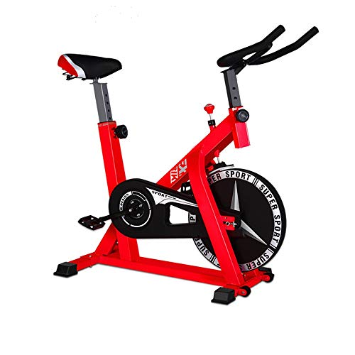Cyclette indoor ciclismo fermo spinning bike home mute cyclette indoor sports bike cyclette famiglia aerobica allenamento bici cyclette con resistenza ( colore : rosso , dimensione : 104x58x114cm )