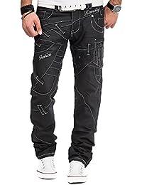 Kosmo Lupo - Jeans - Jambe droite - Homme Noir Noir