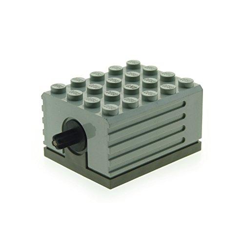 1 x Lego Technic Electric Motor alt-hell grau 9V 5 x 4 x 2 1/3 Elektrik geprüft für Set 5114 9883 9633 8094 8868 8485 8480 9793 2838c01 (Lego Electric Technic)