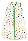 Schlummersack Kinderschlafsack für den Sommer aus Baumwoll-Musselin 0.5 Tog - Waldtiere - 3-6 Jahre/130 cm