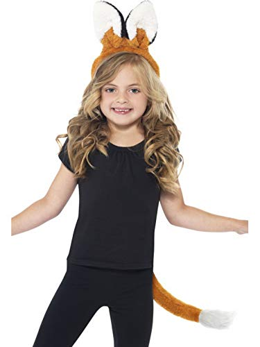 Luxuspiraten - Kostüm Accessoires Zubehör Kinder Fuchs Set aus Ohren und Schwanz, Fox Kit with Ears and Tail, perfekt für Karneval, Fasching und Fastnacht, Braun (Fox Tail Kostüm Zubehör)