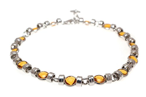 everydaygioielli-pulsera-mujer-de-plata-925-con-piedras-citrino-corte-briolette-de-5-mm-joya-rodiada