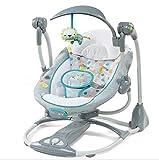 CWLLWC Babywippe,Baby elektrische schütteln Stuhl elektrische 5-Block-Swing Swing Musik Rocking Chair