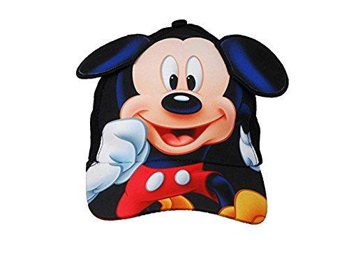 (Kleinkinder Mickey Mouse mit 3D Ohren Baseball Cap schwarz)