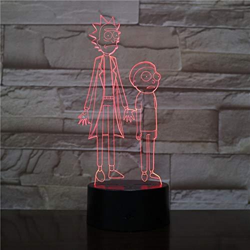 Rick und Moti Schreibtischlampe Schlafzimmer Touch Sensor Dekoration Nachtlicht Kinder Geschenk Cartoon Nachtlicht Gadget