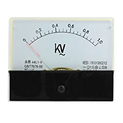 Sourcingmap Trtaxceegf7434 44l1-v Ac 0-1kv Rectangle Analog Panel Volt Meter Gauge Black White
