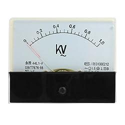 Sourcingmap Trtaxceegf7434 44l1-v Ac 0-1kv Rectangle Analog Panel Volt Meter Gauge Black White