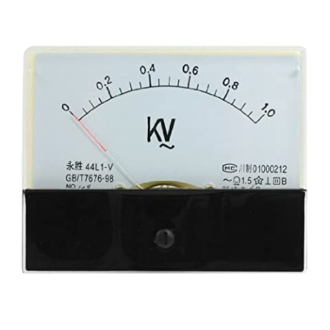 44L1-V AC 0-1KV Rectangle Analog Panel Volt Meter Gauge Black