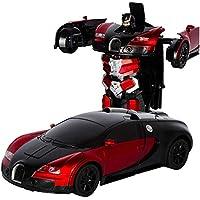 Robot Transformador, Control Remoto RC Transformar Bugatti Rambo Robot De Coche Juguete Modelo De Coche Eléctrico Con Control Remoto