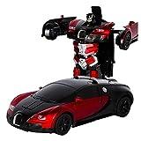 RC Cars Trasformazione Robot Car Toy RC Veicoli Robot Toy Auto, trasformazione in A Pulsante, figura di deformazione del trasformatore di controllo remoto, cambio forma auto modello