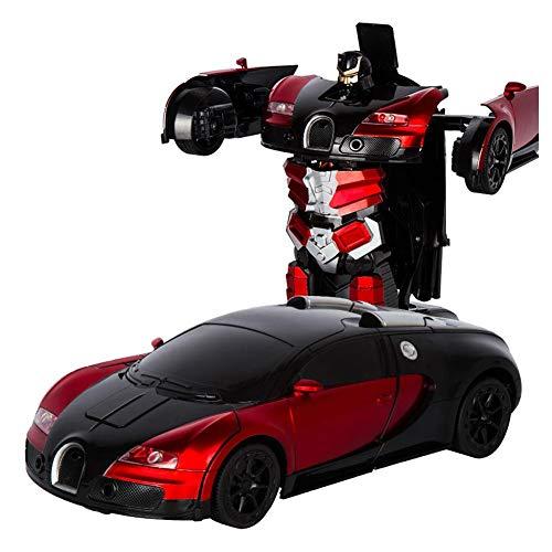 RC Transformator Roboter Auto,Fernbedienung Auto, 1:12 Kinderspielzeug Roboter-Auto Stunt Elektronische Autos Wiederaufladbare Fahrzeuge Spielzeug Spiele