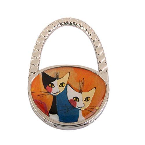 Tabelle Paare Katz Faltbarer Faltender Geldbeutel Taschen Handtasche Aufhänger Hakenhalter Geschenk