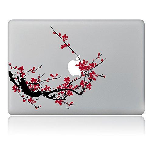 """Cinlla® Autocollant Macbook Stickers Peinture à l'encre de Chine Plum Blossom Stickers Ordinateur Portable Stickers Laptop Skin pour Macbook Pro 13"""" avec/sans Touch Bar (A1706/A1708)"""