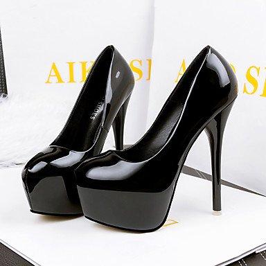 Moda Donna Sandali Sexy donna tacchi tacchi inverno / Round Toe Dress Stiletto Heel altri nero / verde / rosa / rosso a piedi Black
