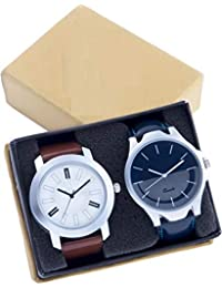 The Shopoholic Combo Latest Fashionable Blue And Black Mahadev Dial Analog Watch For Boys -Combo Watch Low Price