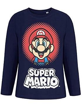 Nintendo Super Mario Bros Camiseta Mangas largas Azul Marino