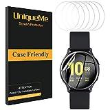 UniqueMe [6 Pack] Pellicola Protettiva per Samsung Galaxy Watch Active 2 44mm Pellicola, [Adsorbimento anidro] [Film Flessibile] Soft HD Clear Anti-Scratch [Garanzia sui sostituzioni a Vita]