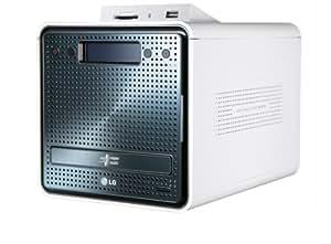 LG N2R1DD2 NAS-System mit Festplatten 2x1TB (2-Bay, SATA II, USB, Ethernet, Cardreader; DVD-RW)