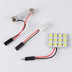 Fenghong SMD LED Panel, Veicolo 12V 12Pcs 5050Smd Car Light con Adattatore per Festone T10 Ba9S