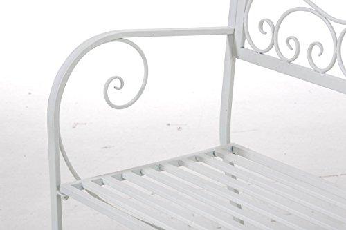 CLP Gartenbank AZAD im Landhausstil, Eisen lackiert, ca 110 x 50 cm Weiß - 8