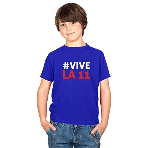 TEXLAB - Polska Vive La 11 - Kinder T-Shirt, Größe XL, (Team Kostüme Maskottchen Fußball)
