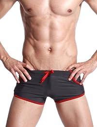 SEOBEAN Low Rise Maillot de bain Poche Boxer Trunk Short Bref Homme