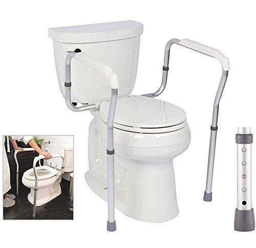 WuLien Toilettengestell, Wc Stützhilfe, Verstellbarer Wc-Aufstehhilfe Toilettenstützgestell Mobile Sicherheitsgestelle Für Toiletten-Einstellbare Länge/Breite-Professionell
