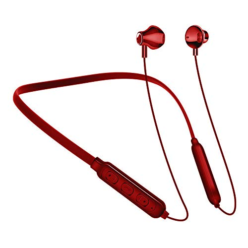 Neck-stereo-bluetooth - (Stereo Bluetooth Headphoneneck Neck-Mounted Double-Eared Neck Sports Wireless Headphones Neck-Mounted Bluetooth Headset (red))