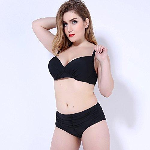 XL übergewichtige Menschen bikini 52 schwarz