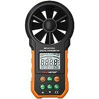 MUANI Digital Anemometer Handheld LCD Air Flow Windgeschwindigkeit Geschwindigkeitsmessgerät Windmesser für Kite Segeln Surfen Angeln Windsurfen Wandern Camping