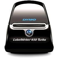 Dymo LabelWriter 450 Turbo Label Maker, Black/Silver