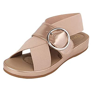 Catwalk Women's Cross Strap Buckle Sandals
