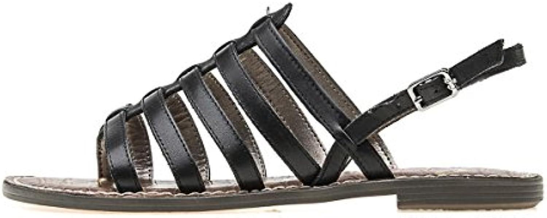 GTVERNH Zapatos de mujer/Verano/Huecos de 13 cm tacón alto zapatos de tacón hembra hebillas sandalias impermeables tablas talones finos zapatos de boca de peces, negro, Thirty-nine Thirty-nine|negro