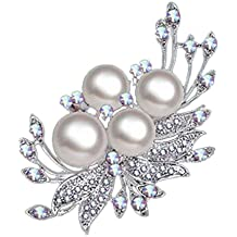 Cosanter nueva moda salvaje cristal perla broche broche broche ropa