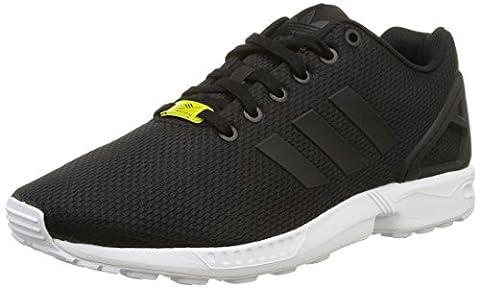 adidas Originals ZX Flux, Herren Sneakers, Schwarz (Core Black/Core Black/White), 42 2/3 EU (8.5 Herren UK)